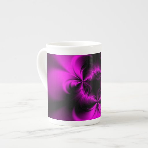 Rosa torcido taza de porcelana