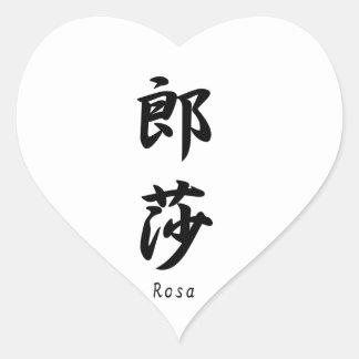 Rosa translated into Japanese kanji symbols. Stickers