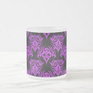 Rosa tribal 5 taza de cristal