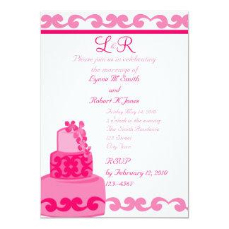 Rosa tropical invitación 12,7 x 17,8 cm