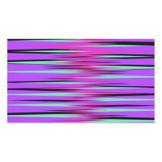Rosa, trullo, negro, y rayas púrpuras tarjetas de visita