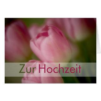 Rosa Tulpen • Glueckwunschkarte Hochzeit Tarjeta De Felicitación