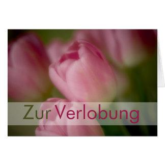 Rosa Tulpen • Glueckwunschkarte Verlobung Tarjeta De Felicitación