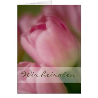 Rosa Tulpen • Hochzeitseinladung Tarjeta De Felicitación