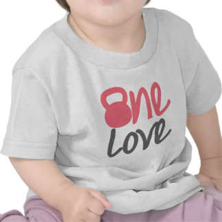 "Rosa ""un amor "" camisetas"