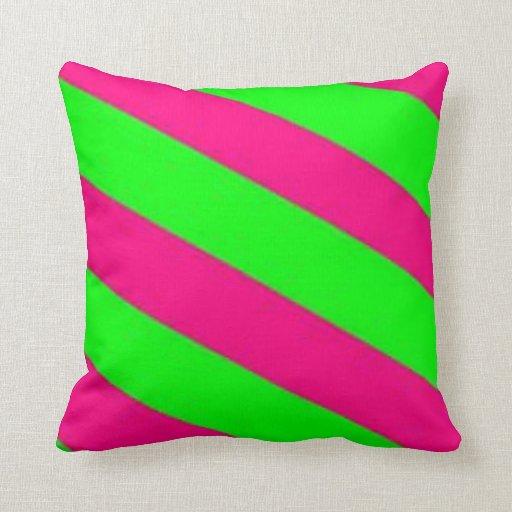 rosa verde-caliente de la cal cojines