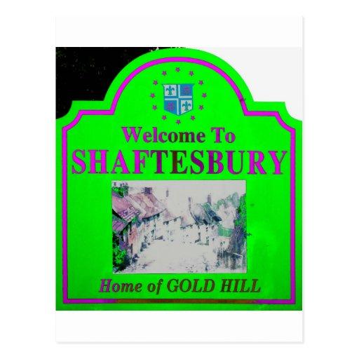 Rosa verde de Shaftesbury Postales