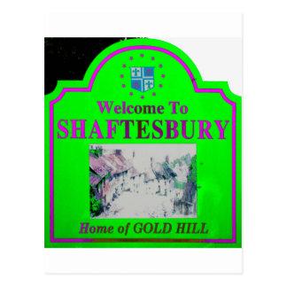Rosa verde de Shaftesbury Tarjeta Postal