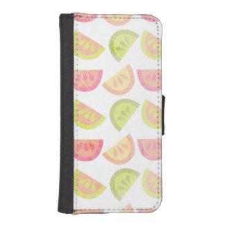 Rosa, verde lima, naranja, amarillo, fruta cítrica cartera para teléfono