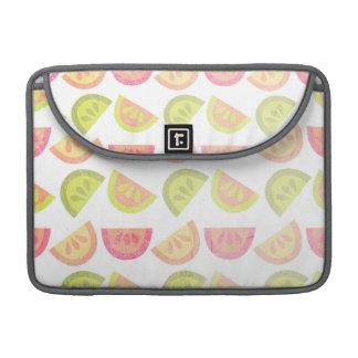 Rosa, verde lima, naranja, amarillo, fruta cítrica funda para macbooks