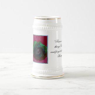 Rosa verde Stein Jarra De Cerveza