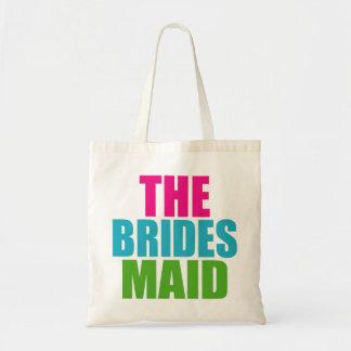 Rosa verde y azul el bolso del boda de la criada bolsas