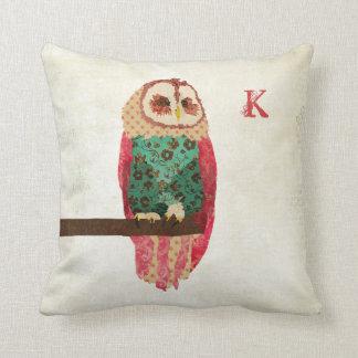 Rosa Vintage  Owl  Mojo Pillow