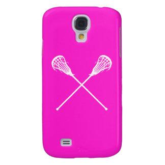 Rosa vivo de los palillos de HTC LaCrosse Funda Para Galaxy S4