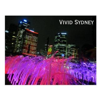 rosa vivo de Sydney Tarjetas Postales