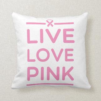 Rosa vivo del amor almohadas