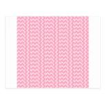 Rosa WideZigzag-Pálido simple de V&H y rosa del Postal