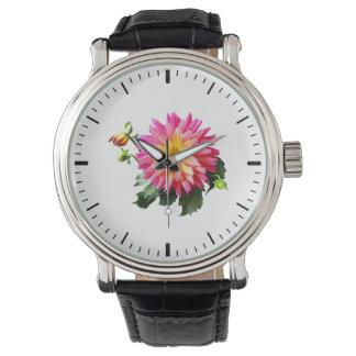 Rosa y amarillo de relojes de mano