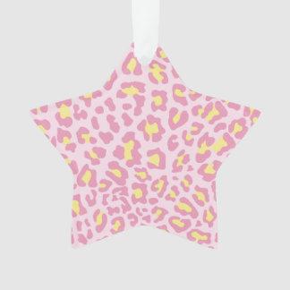 Rosa y amarillo del estampado leopardo