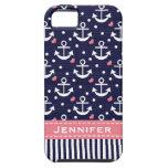 Rosa y ancla de la marina de guerra iPhone 5 Case-Mate cárcasa