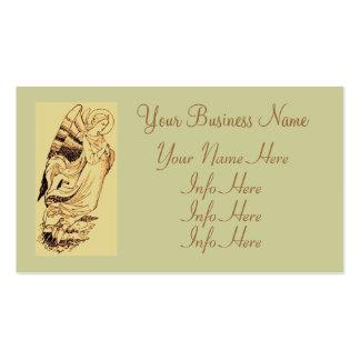 Rosa y ángel del oro tarjetas de visita
