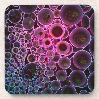 Rosa y arte oscuro de los círculos del extracto posavasos de bebidas