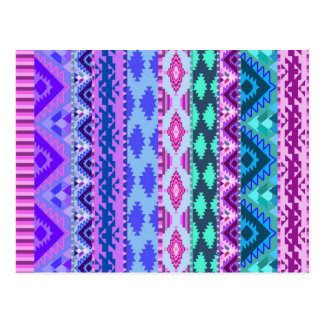 Rosa y Azteca femenino púrpura Postales