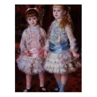 Rosa y azul o, los chicas de los d'Anvers de Postal