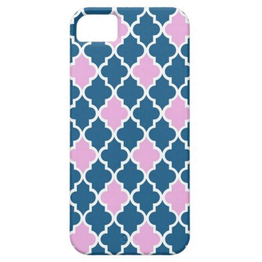 Rosa y azules marinos frescos, clásicos, modernos, iPhone 5 funda