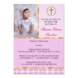 Rosa y bautismo del oro/invitación del bautizo