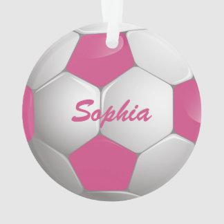 Rosa y blanco adaptables del balón de fútbol del
