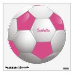 Rosa y blanco adaptables del balón de fútbol del f