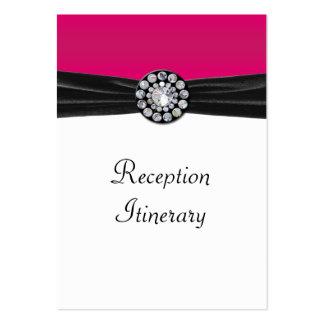 Rosa y blanco con terciopelo negro y el boda de di tarjeta de visita
