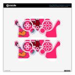 rosa y bonito mando PS3 calcomanía