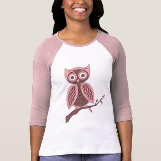 Rosa y Brown Owlie Camisetas