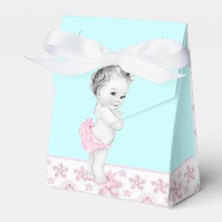 Rosa y cajas azules del favor de la fiesta de caja para regalo de boda