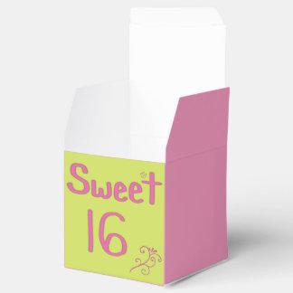 Rosa y cal del dulce 16 cajas para detalles de boda