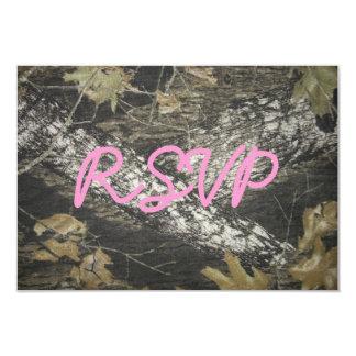 """Rosa y Camo RSVP Invitación 3.5"""" X 5"""""""
