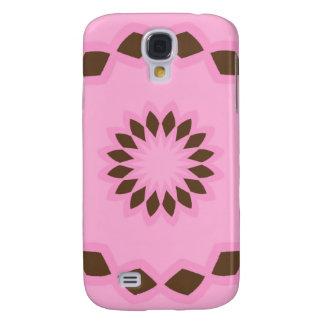 Rosa y caso del iPhone 3 de la mandala de la flor