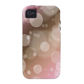 Rosa y caso del iPhone 4 de las burbujas de Brown Vibe iPhone 4 Carcasas