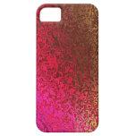 Rosa y caso del iphone 5 del reflejo del oro iPhone 5 Case-Mate coberturas