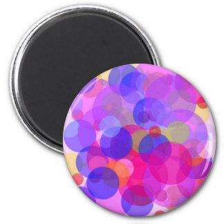 Rosa y colores Polkadots Imán Redondo 5 Cm