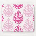 Rosa y damasco rosado oscuro de la moda del boho tapete de raton