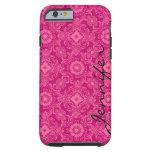 Rosa y damascos florales del rosa y formas funda de iPhone 6 tough