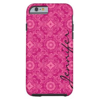 Rosa y damascos florales del rosa y formas funda para iPhone 6 tough