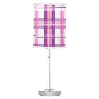 Rosa y diseño moderno púrpura de la tela escocesa lámpara de escritorio