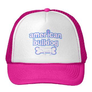 Rosa y dogo americano azul gorras