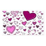 Rosa y Doodles preciosos de Purple Heart Plantillas De Tarjeta De Negocio