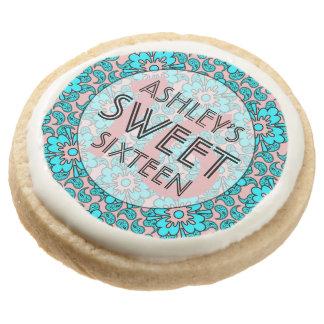 Rosa y dulce azul 16 galletas de la fiesta de