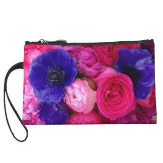 Rosa y embrague floral púrpura - Peony, subió, ané